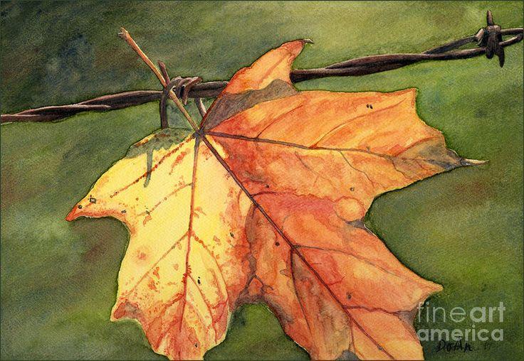 Leaf Painting | Crafts | Pinterest