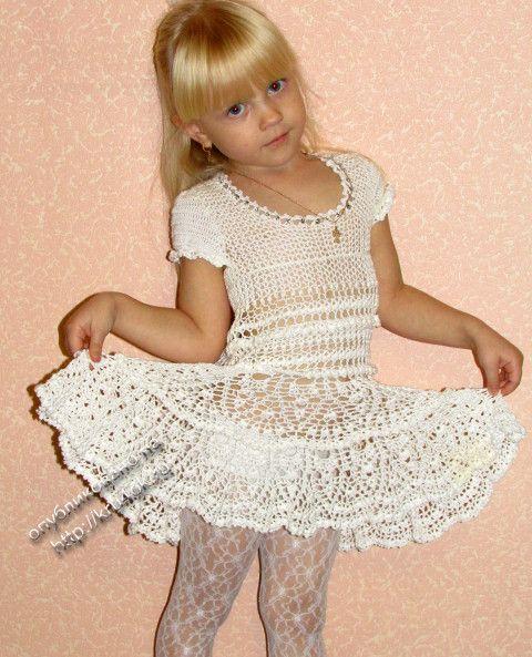 Вязаные платья детские со