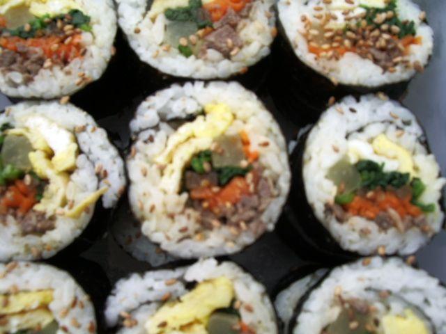 Kimbap, Korean sushi | Food and Recipe Inspiration | Pinterest