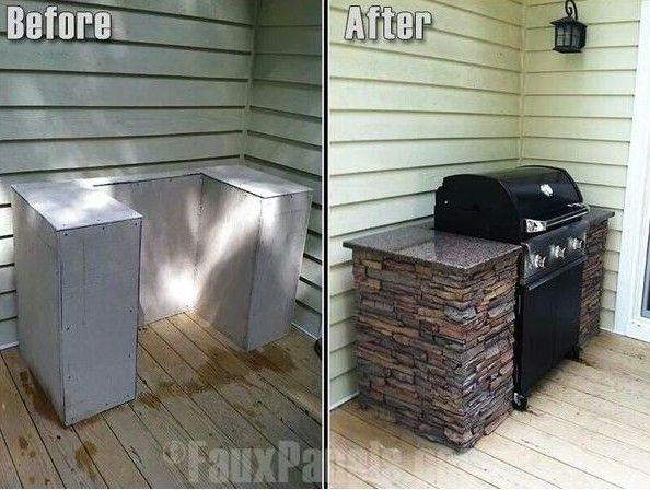 Diy Grill Surround House Pinterest