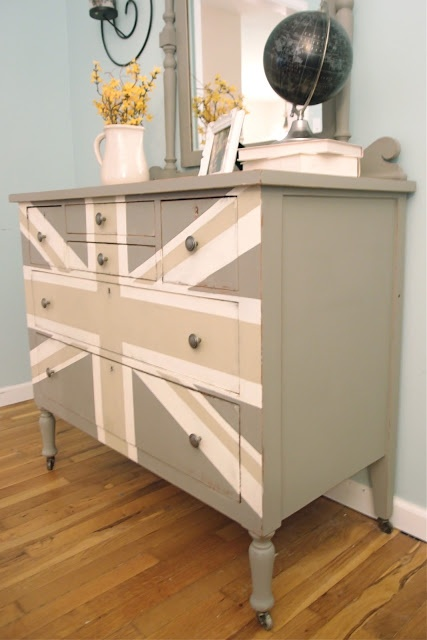 Gray Union Jack Upcycled Home Decor Pinterest
