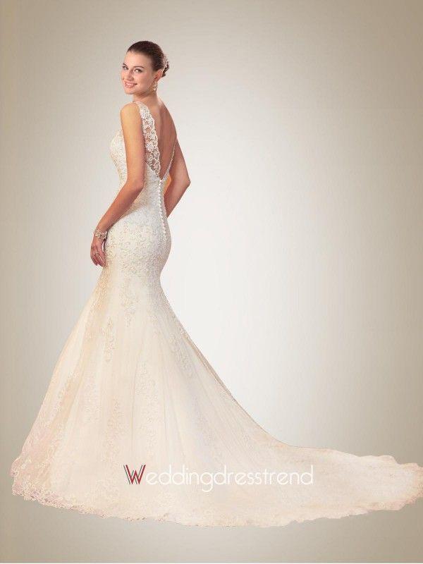 Neckline Lace Wedding Dress - Shop Online for Cheap Wedding Dresses