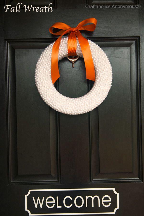 Pretty pearl fall wreath!