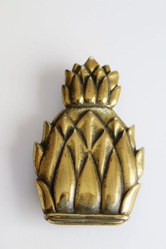 English brass pineapple door knocker - Pineapple door knocker ...
