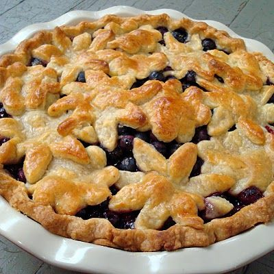 Blueberry Pie with Sweet Almond Crust - might modify the filling to do ...