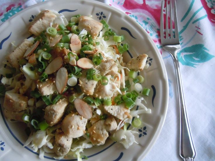Chinese Chicken Salad- Trader Joe's Asian Style Spicy Peanut ...