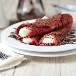 velvet and nutella crepes oh my lanta they look delcious i think i ...