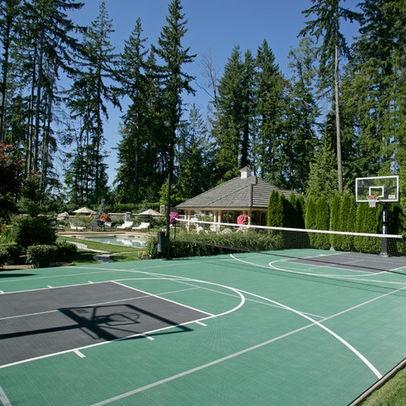 backyard tennis basketball court exteriors pinterest