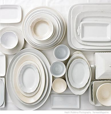 Ironstone -- I want new all-white dishes