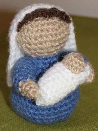 Amigurumi Nativity Free Pattern : Crocheted Mary and Baby Jesus Crochet(Amigurumi) Pinterest
