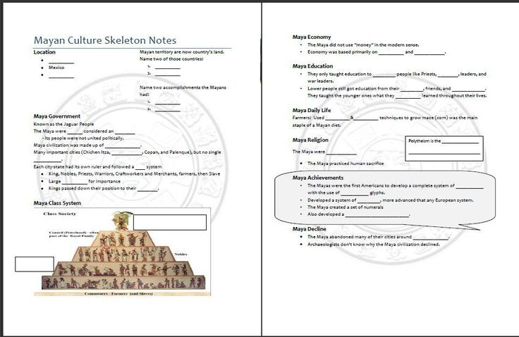 Mayan Powerpoint and worksheet I made that goes over the Mayan ...
