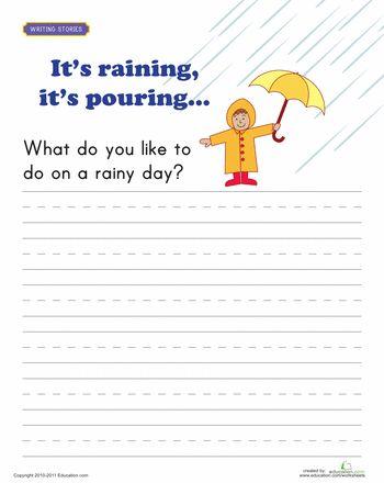 Rainy day essay for class 7