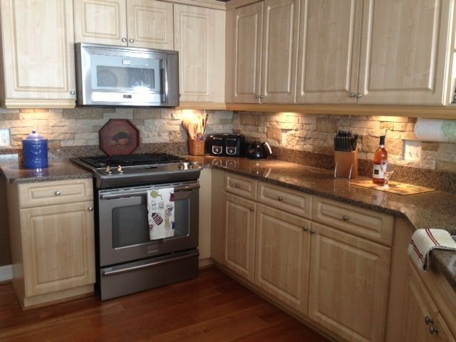 faux stone backsplash airstone at lowes