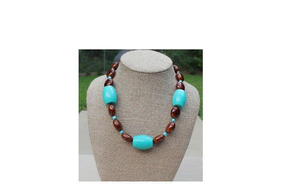 And brown beaded necklace 19 5 by imibalainspirations, $28.00
