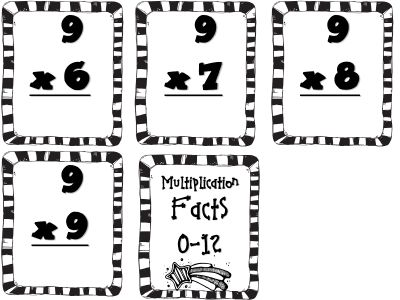 Multiplication flash cards (free)
