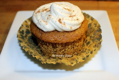 Buttermilk Pumpkin Spice Cupcakes with Buttermilk Butter Cream Icing