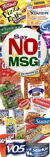 Say NO to MSG - Monosodium Glutamate - Index hmm this would be helpful for my migraines...