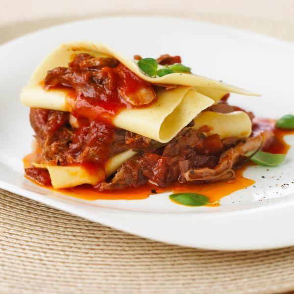 ... Duck Ragu with Torn Pasta / Modern Duck Lasagna Slow Cooked Duck Ragu