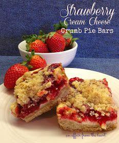 Strawberry Cream Cheese Crumb Pie Bars | Dessert Addiction | Pinterest