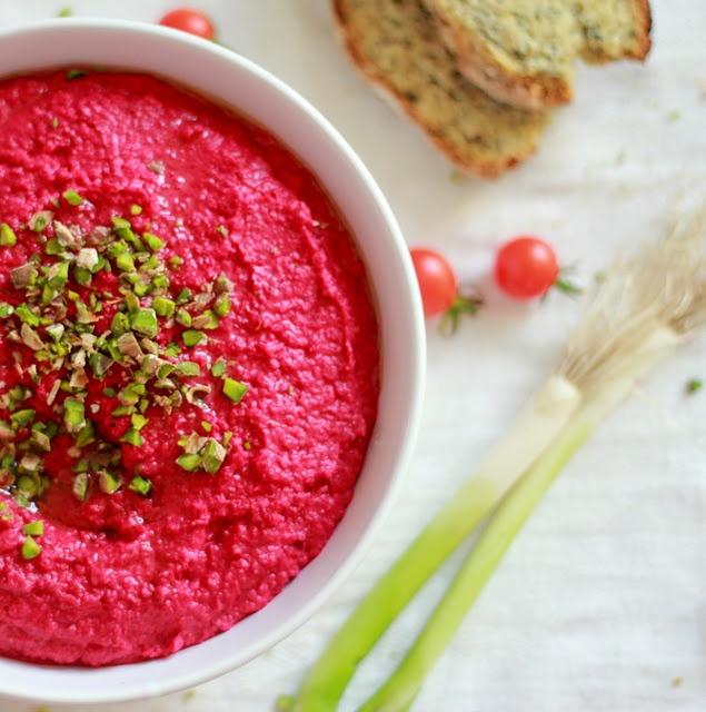 Beet Hummus | I can make that | Pinterest