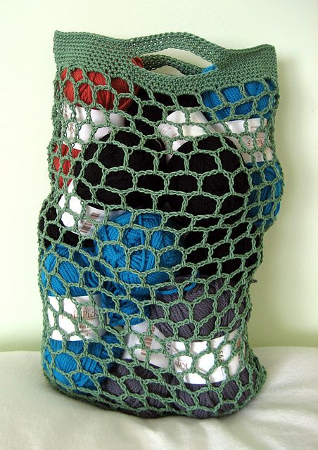 Crochet Net Bag Pattern : ... links to free patterns for crochet market bags a little bird made me