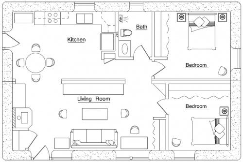 Straw bale house floor plan adobe straw bale houses for Straw bale house plans