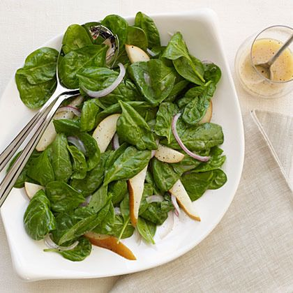 Spinach and Pear Salad by Cooking Light | Salads | Pinterest