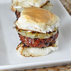 Hawaiian Pork Sliders - a mini burger made from pork, basted with ...