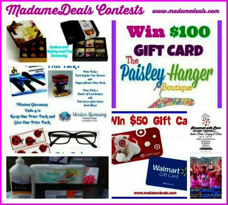 Giveaways ending tomorrow hurry! http://madamedeals.com/contests/