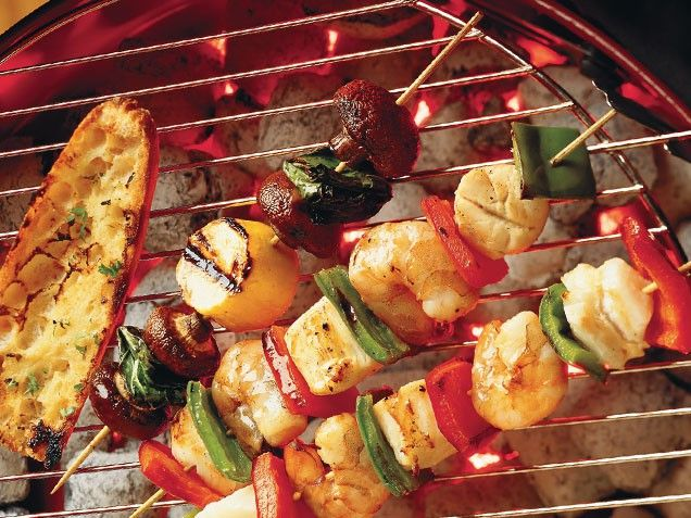 Scallop, Shrimp and Vegetable Kebabs | Recipe