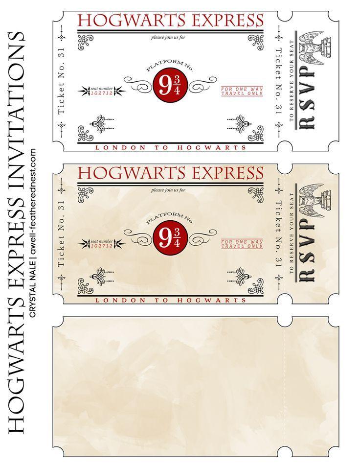 Билет на поезд в хогвартс своими руками 89