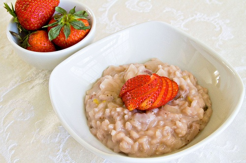 strawberries and cream risotto | breakfast | Pinterest