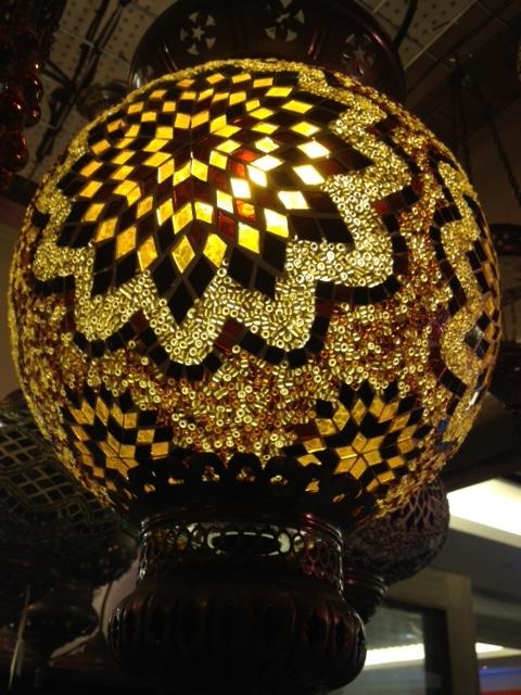 Mosaic hanging lamp | mosaics | Pinterest