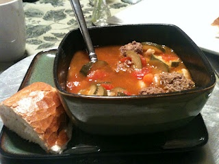 Italian Garbage Soup with meatballs (I added rice and substituted ...