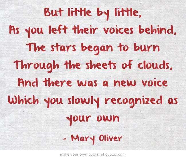 an analysis of the journey we all encounter by mary oliver It is a series of loosely connected images tied up with mostly full end rhymes and a repeated refrain which reinforces the idea that, despite what we encounter in life, we do not have to be afraid maya angelou published this poem in 1993 and it became the title of the book it appeared in, a collaborative effort with artist jean-michel basquiat his.