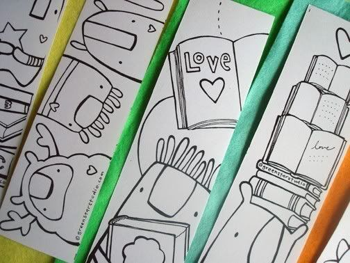 Kids' color your own bookmarks, by Dana Marie Hosler