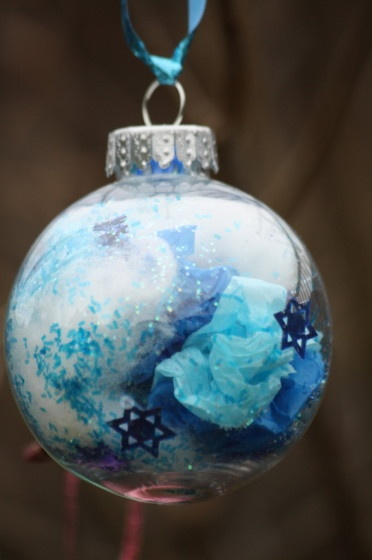 Glass ball ornament craft happy hooligans kids for Glass christmas balls crafts