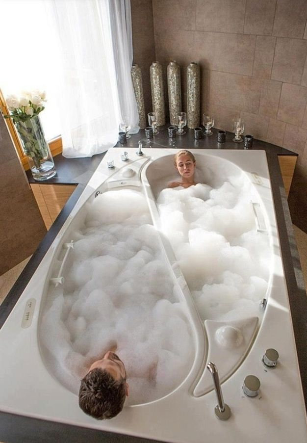 his and hers separate bath tubs dream home pinterest