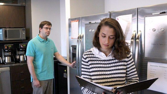 signs of sexual tension between coworkers