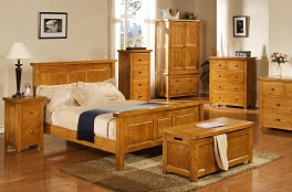 Solid Oak Rubberwood Bedroom Furniture Perth Collection