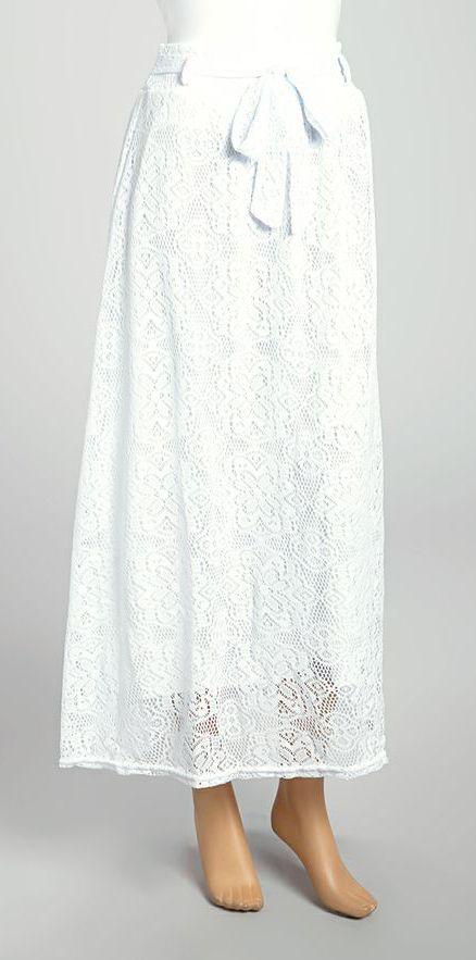 white lace maxi skirt fashion