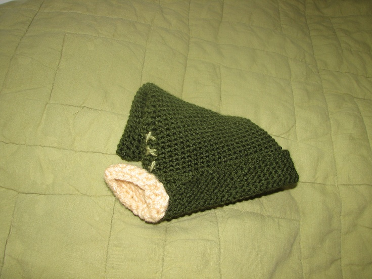 Crochet Stitches Legend : Link the elf, from Legend Of Zelda. Newborn sized hat, single crochet ...
