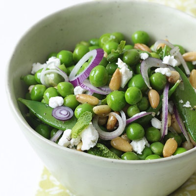 Double Pea and Feta Salad #SnapPeas
