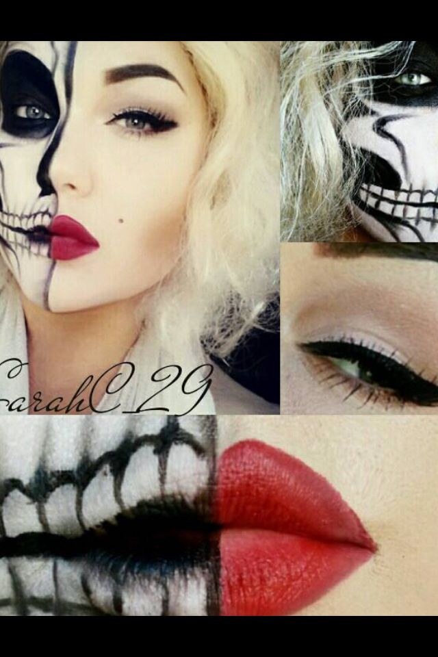 Monroe Skeleton makeup Halloween Pinterest - Skeleton Halloween Costume Makeup