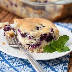 Blueberry Buttermilk Cake - using lots of fresh in-season blueberries ...