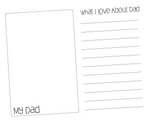 Fathers Day printable note