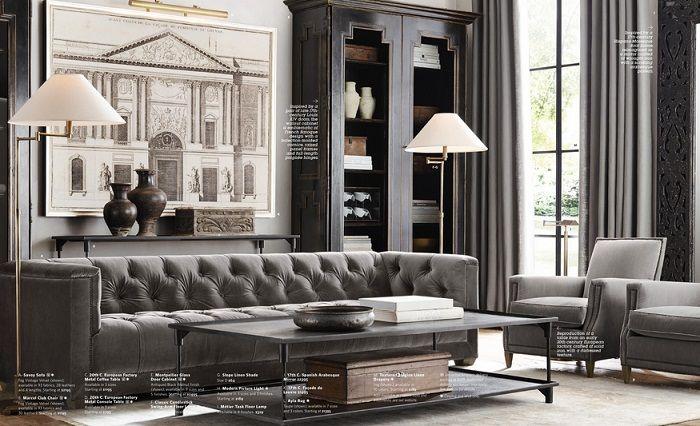 restoration hardware living room traditional pinterest