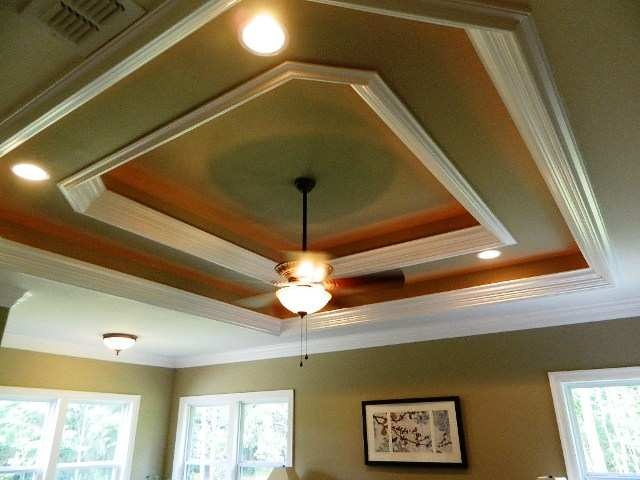 Tray ceiling molding home architectural design for Tray ceiling trim ideas