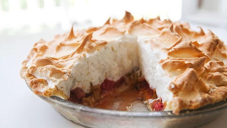 Rhubarb Orange Meringue Pie | Pudding to Pies - OH MY!!! | Pinterest