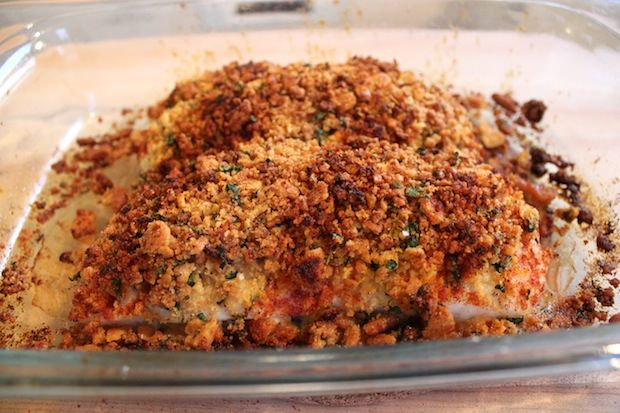 recipe for New England Baked Cod with Ritz Cracker Crumbs: http ...